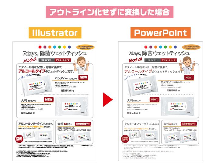 アウトライン化せずに-PowerPointに変換した場合の比較